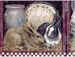 Rabbits Wallpaper Border b1102hc