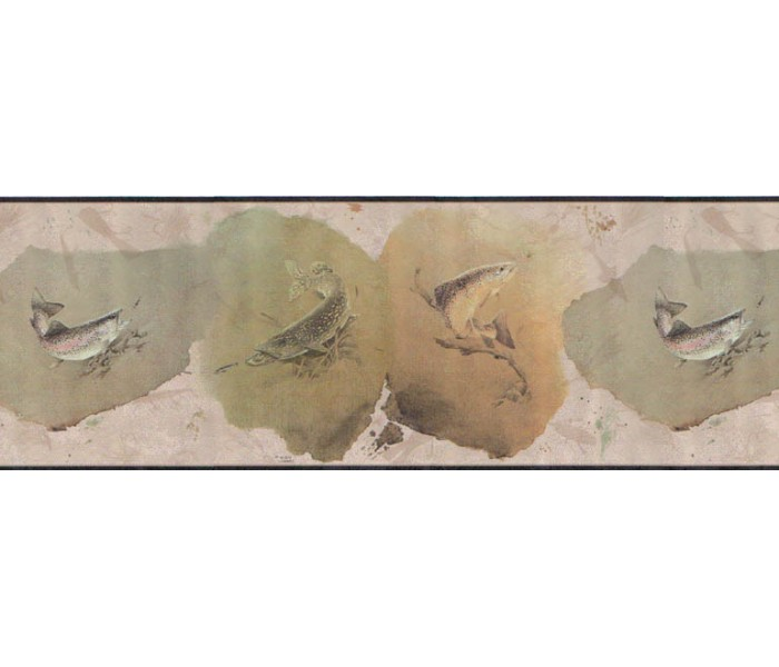 Clearance: Fish Wallpaper Border B169225