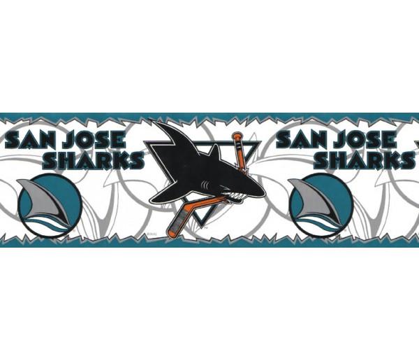 Sports Wallpaper Borders: San Jose Sharks Wallpaper Border B195408
