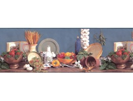 Prepasted Wallpaper Borders - Kitchen Wall Paper Border B2001BA