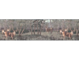 Prepasted Wallpaper Borders - Deers Wall Paper Border B2184PG