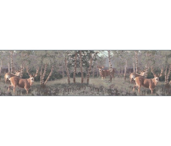 Deer Moose Wallpaper Borders: Deers Wallpaper Border B2184PG
