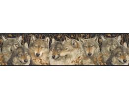 6 7/8 in x 15 ft Prepasted Wallpaper Borders - Animals Wall Paper Border MRL2403