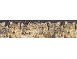 6 7/8 in x 15 ft Prepasted Wallpaper Borders - Animals Wall Paper Border MRL2404