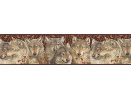 6 7/8 in x 15 ft Prepasted Wallpaper Borders - Animals Wall Paper Border MRL2405