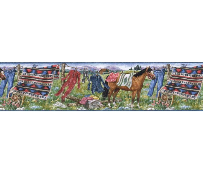 Laundry Wallpaper Borders: Horses Wallpaper Border MRL2430