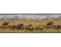9 in x 15 ft Prepasted Wallpaper Borders - Horses Wall Paper Border MRL2434