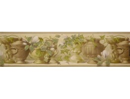 Prepasted Wallpaper Borders - Leafs Wall Paper Border SG30429