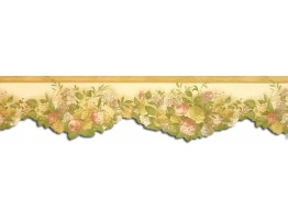 Prepasted Wallpaper Borders - Floral Wall Paper Border WP30532DC
