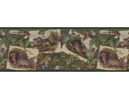 10 1/4 in x 15 ft Prepasted Wallpaper Borders - Animals Wall Paper Border B33636
