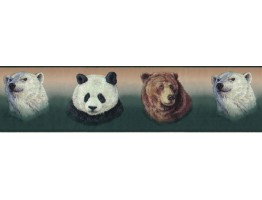 Prepasted Wallpaper Borders - Animals Wall Paper Border B3413GB