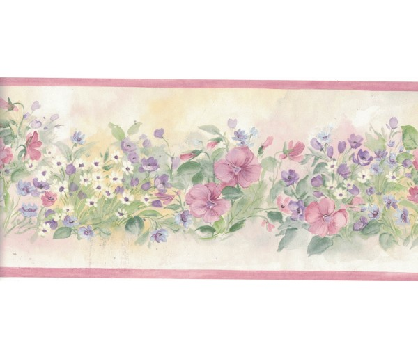 Floral Borders Flower Wallpaper Border B3567