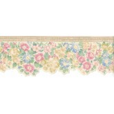 Floral Borders Flower Wallpaper Border B3572