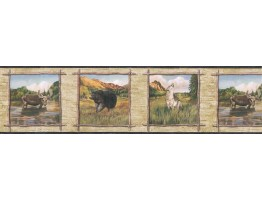 Prepasted Wallpaper Borders - Animals Wall Paper Border TA39020B