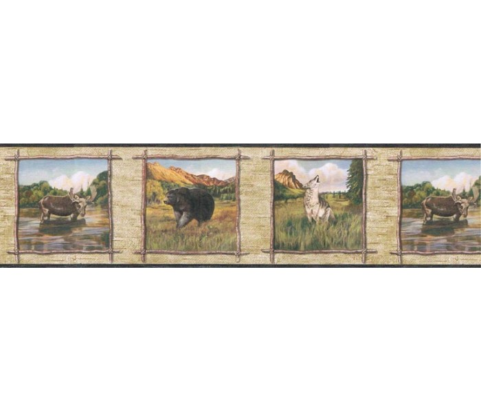 Clearance: Animals Wallpaper Border TA39020B