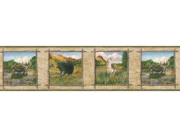 Prepasted Wallpaper Borders - Animals Wall Paper Border TA39021B