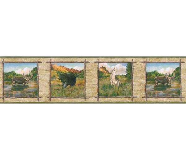 Clearance: Animals Wallpaper Border TA39021B