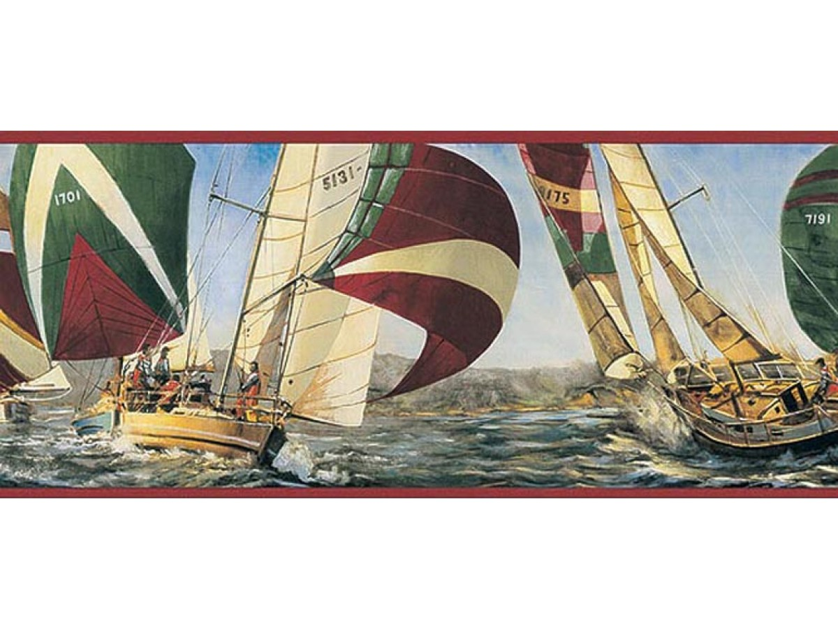 Sports Wallpaper Borders Ships Wallpaper Border Ta39040b