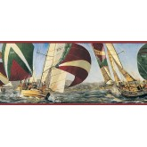 Clearance: Ships Wallpaper Border TA39040B
