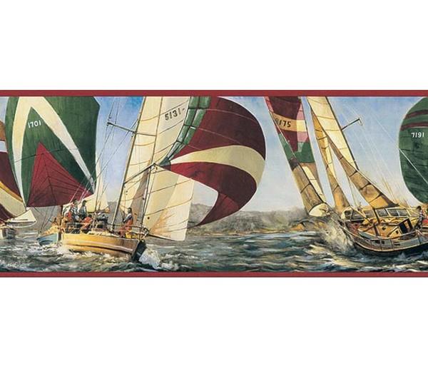 Clearance: Ships Wallpaper Border TA39040B