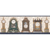 Clearance: Clocks Wallpaper Border FW4042B