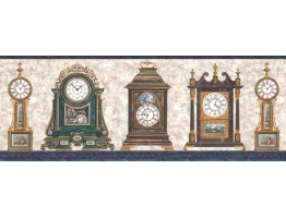 Clocks Wallpaper Border FW4042B