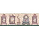 Vintage Wallpaper Borders: Clocks Wallpaper Border B4043FW