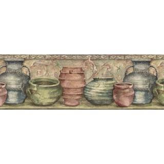 9 in x 15 ft Prepasted Wallpaper Borders - Kitchen Wall Paper Border IL42006B