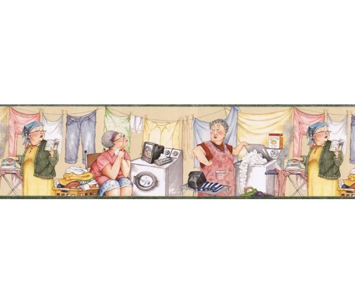 Laundry Wallpaper Borders: Luandry Wallpaper Border KLM43006B