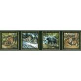 Jungle Animals Wallppaer Border B44307S Fine Art Decor Ltd.