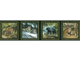 Prepasted Wallpaper Borders - Animals Wall Paper Border B44307S