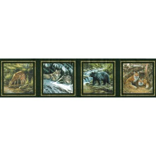 6 3/4 in x 15 ft Prepasted Wallpaper Borders - Animals Wall Paper Border B44307S