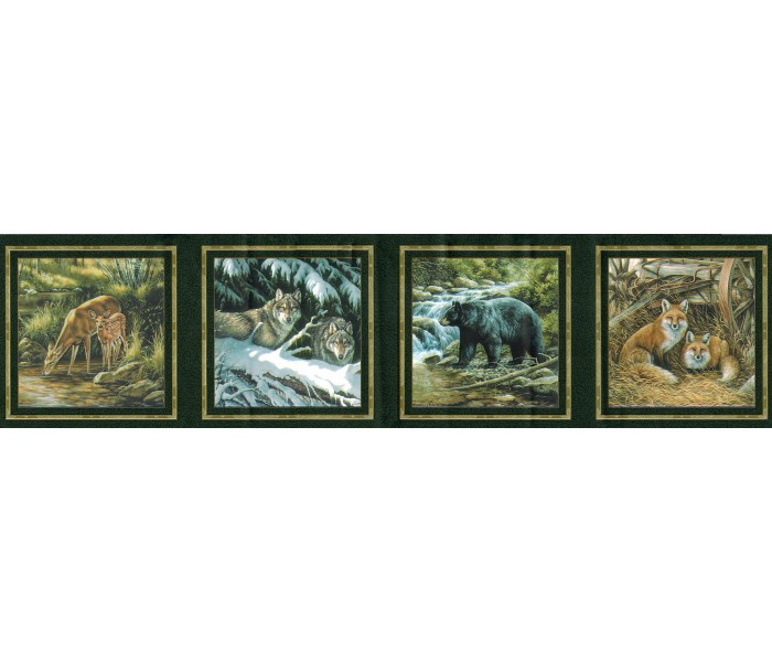 Deer Moose Wallpaper Borders: Animals Wallpaper Border B44307S