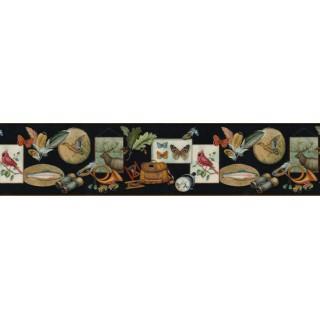 6 3/4 in x 15 ft Prepasted Wallpaper Borders - Birds Wall Paper Border B44321