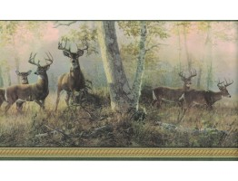 Prepasted Wallpaper Borders - Deer Wall Paper Border B44341