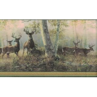 6 1/2 in x 15 ft Prepasted Wallpaper Borders - Deer Wall Paper Border B44341
