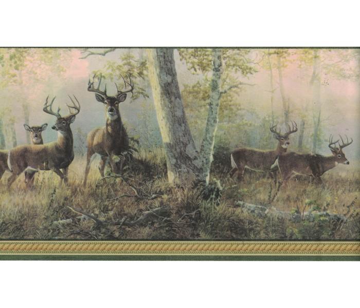 Deer Moose Wallpaper Borders: Deer Wallpaper Border B44341