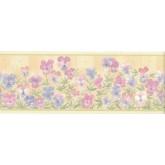Floral Borders Flower Wallpaper Border B4953