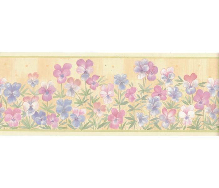 Floral Wallpaper Borders: Flower Wallpaper Border B4953