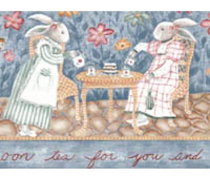 Clearance: Rabbits Wallpaper Border B5033CK
