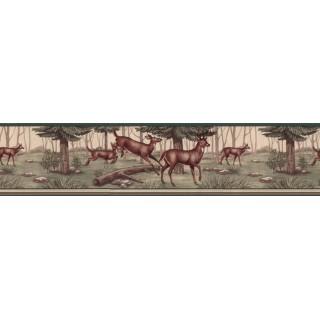6 3/4 in x 15 ft Prepasted Wallpaper Borders - Deers Wall Paper Border B5134WE