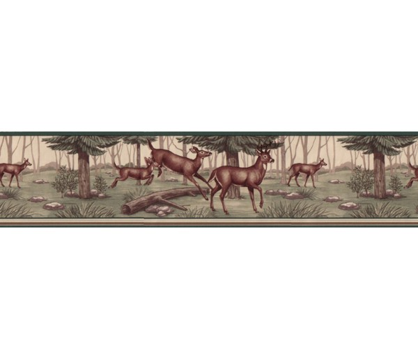 Clearance Deers Wallpaper Border B5134WE Blonder Home Accents