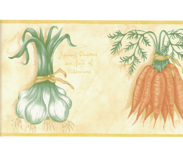Garden Wallpaper Borders: Vegetables Wallpaper Border B6115