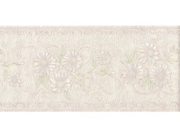 5 1/8 in x 15 ft Prepasted Wallpaper Borders - Flower Wall Paper Border B6264