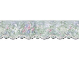 Prepasted Wallpaper Borders - Floral Wall Paper Border 62743DC