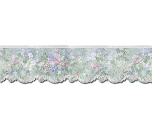 Floral Wallpaper Borders: Floral Wallpaper Border 62743DC