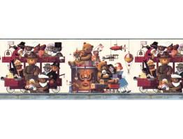 Prepasted Wallpaper Borders - Kids Wall Paper Border B6332HV