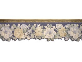 7 in x 15 ft Prepasted Wallpaper Borders - Floral Wall Paper Border 65094DC