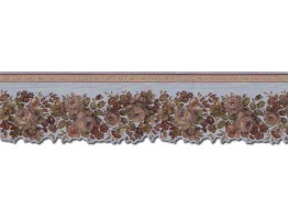 Prepasted Wallpaper Borders - Roses Wall Paper Border 65100DC