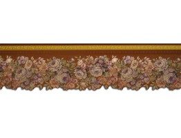 Prepasted Wallpaper Borders - Floral Wall Paper Border 65102DC